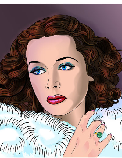 Vector illustration of Hedy Lamarr by Yorkatronic