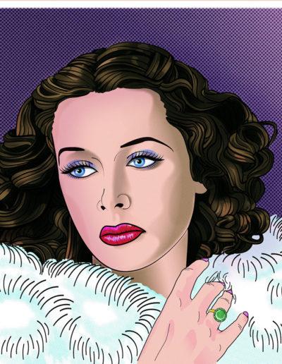 Hedy Lamarr Pop Art Portrait by Yorkatronic