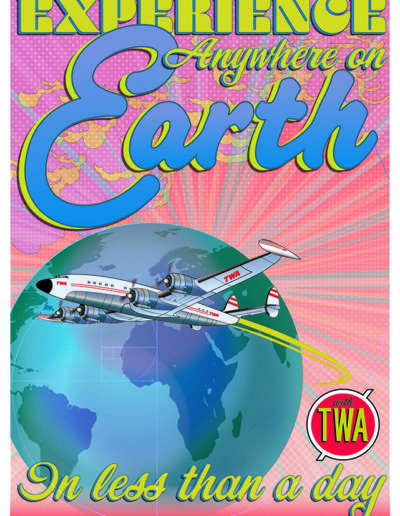 retro /neo airline poster design by yorkatronic